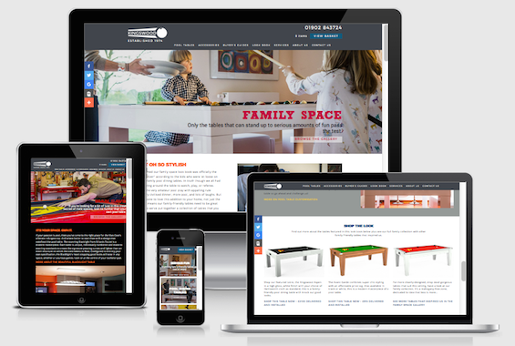 Editorial screens for the kingswood website