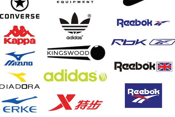 The Kingswood logo alongside other established sports brands